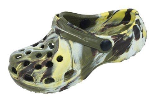 Sunville Childrens Tie Dye Garden Shoes Clogs,11 M US Little