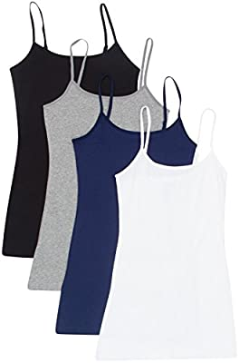 4 Pack Active Basic Women's Basic Tank Tops