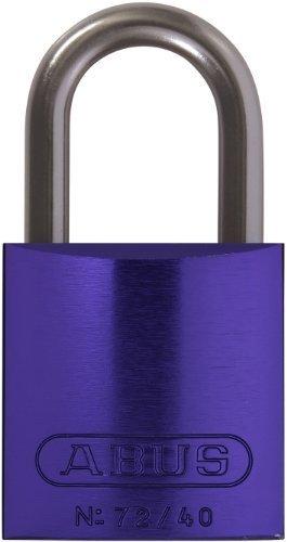 ABUS 72/40 KA Safety Lockout Aluminum Keyed Alike Padlock with 1-Inch shackle, Purple by ABUS