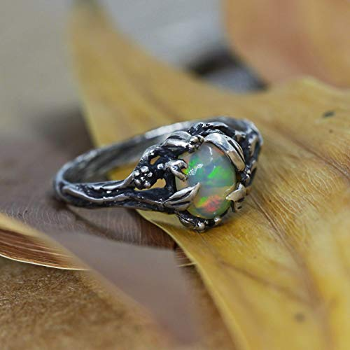 (Fire Opal Engagement Ring