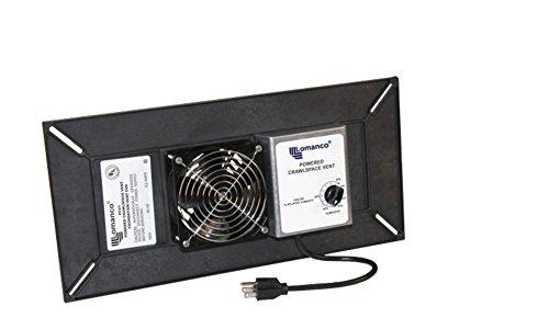 Lomanco 9800530 PCV1 Powered Crawl Space Fan