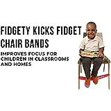 Excellent Amazon Com Fidget Kick Bouncy Chair Bands 2 Pack Short Links Chair Design For Home Short Linksinfo