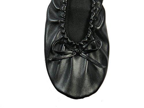 Rolly Flats Foldable Ballet, Ballet fille femme bébé fille Noir