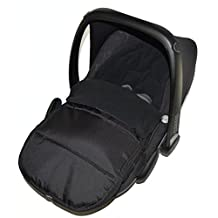 Universal Car Seat Footmuff To Fit Maxi Cosi Pebble Black Jack by For-your-Little-One