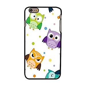 PEACH Owls Style Plastic Hard Back Cover for iPhone 6 Plus