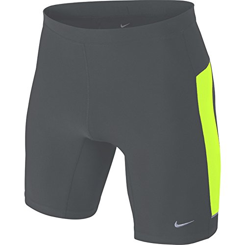 Nike Men's Filament Running Tight Shorts Size 2XL Grey/Volt