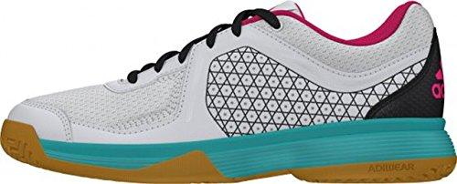 adidas Counterblast 3 K, Zapatillas de Balonmano Unisex Bebé Blanco / Verde / Gris (Balcri / Verimp / Grpudg)