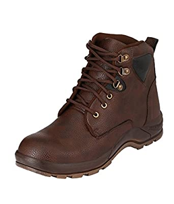 Udenchi Men S Brown Safety Shoe With Steel Toe 10 Uk Amazon In