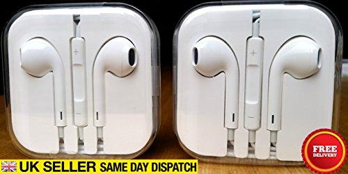 D'Apple EarPods Headset (pour iPhone 5 / 5S) -Pas paquet de détail vient dans un boîtier en cristal.