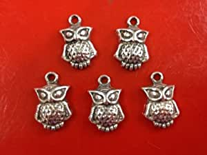 10 Piece Owl Antique Silver Tibetan Style Charms Pendants [Office Product]