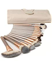 Makeup Brushes Set,TERSELY 18 Pcs Professional Make up Brush Tools kit Synthetic Kabuki Face Blush Lip Eyeshadow Eyeliner Foundation Powder Cosmetic Brushes Kit with PU Leather Bag
