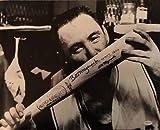 : Bill Mazeroski Autographed Kissing Bat 16x20 Photo