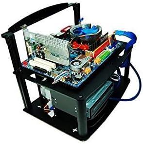 diypc alpha-gt3 ATX de aluminio y acrílico negro banco banco de ...