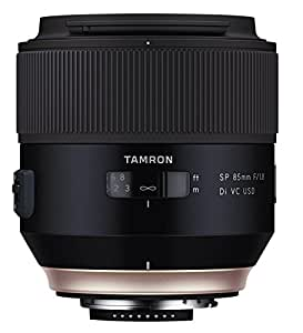 Tamron SP 85 mm F/1.8 Di VC USD - Objetivo para cámaras réflex Nikon (estabilizador imagen VC, revestimiento eBAND), negro