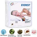 """Everest Supply Premium Mattress Encasement-Knitted Polyester PU Laminated Fabric. Waterproof-Bedbug Proof-Hypoallergenic Zippered Protector/Cover. Twin 39"""" x 75""""+ (7"""" to 9"""" Depth)"""