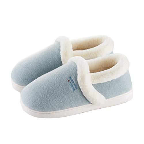 Bottes Flop SFHK Unisexe Extérieur Antidérapant Taille Chaussons Flip Basse Hiver Blue Intérieur Coton Confort Chaussures qRwOUxTw8