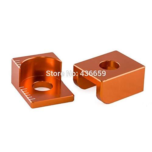 Star-Trade-Inc - Billet Rear Axle Blocks Chain Adjuster For 65 SX 65SX 65 XC 2003-2015 Orange