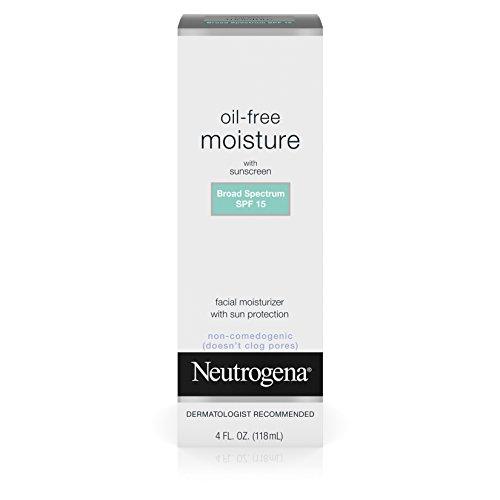 Neutrogena Oil-Free Moisture With Broad Spectrum Spf 15 Sunscreen, 4 Fl. (Spf 15 Sunscreen Moisture Cream)