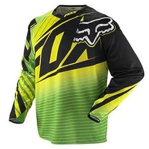 Fox 2012 Men's 360 Enterprize Long Sleeve Bike Jersey - 02360 (Green/Yellow - S)