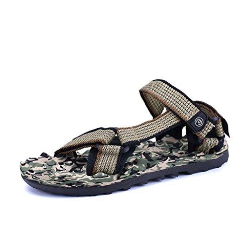 ZXCV Zapatos al aire libre Zapatos de los hombres al aire libre de los hombres de la playa sandalias huecos transpirables Marrón