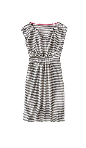 BODEN Black and White Striped Easy T-Shirt Dress Jersey Cotton Modal Size US 4 L from BODEN