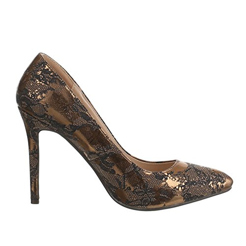 Ital-Design Women's Pumps Gold - gold GBX9BVv