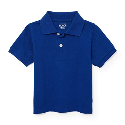 The Childrens Place Baby Boys Little Short Sleeve Solid Polo 1