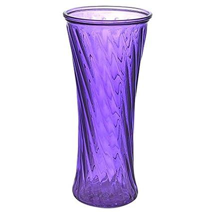 Amazon Ezflowery Twisted Ribbed Trumpet Glass Vases Swirl
