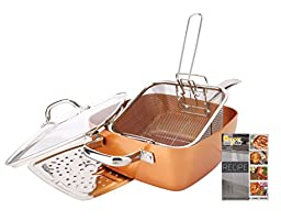 Non-Stick Copper Titianium Chef 5 Piece 9.5\
