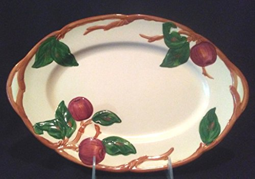 Franciscan Usa Apple - Franciscan Apple Oval Platter 12 1/2 in by 8 1/2 in, Franciscan Apple Oval Platter Made in the USA