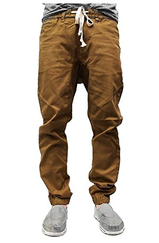 Victorious NEW Colors Mens Twill Jogger Pants (XL, Dark Wheat)