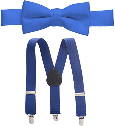 Hold'Em Suspender and Bow Tie Set for Kids, Boys, and Baby -Royal 26