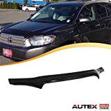 AUTEX Hood Shields Bug Deflector Fits for 2008 2009 2010 Toyota Highlander Hood Protector Deflector