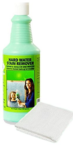 Bio Clean: Hard Water Spot Stain Remover (40oz) for SHOWERS auto glass chrome toilet bowls bbq grills stove tops concrete patio furniture tile grout and more ECO FRIENDLY (Acid Cleaner Patio Brick)