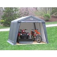 ShelterIT 10 ft. W x 10 ft. D x 8 ft. H Steel Frame Polyethylene Instant Garage/Shed without Floo