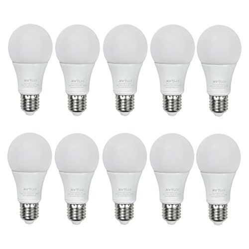 MW LED 60 Watt Equivalent 10-pack, A19 LED Light Bulbs, Dimmable 3000K Soft White