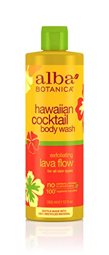 Alba Botanica Hawaiian, Lava Flow  Cocktail Body Wash, 12 - Hawaiian Body Scrub Alba