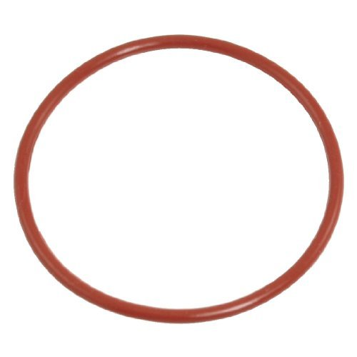 66 mm x 72 mm x 3 mm Brick Red Industrial Silicone O Ring Seal