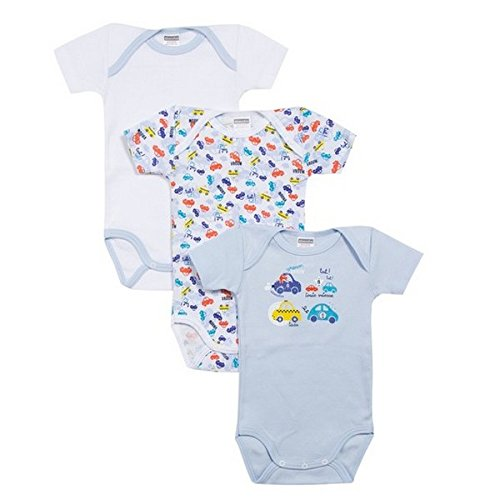 Absorba Underwear Baby Boys 6L60046-RA Bodysuit, Blue (Blue Moyen)