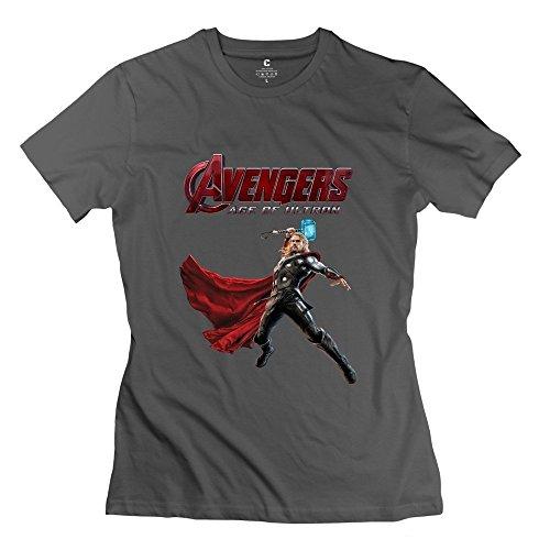StaBe Women Avengers Age Of Ultron Logo T-Shirt Short Sleeve Vintage XXL DeepHeather