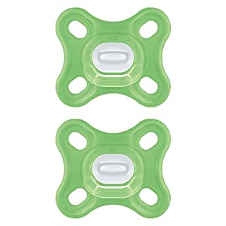 MAM Comfort Pacifiers, Newborn Pacifiers (2 Pack, 1 Sterilizing Pacifier Case) MAM Pacifiers 0-4 Months, Best Pacifier for Breastfed Babies, Unisex Baby Pacifiers, Silicone Pacifier