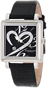 Stuhrling Original Women's 253XL.11151 Amour Aphrodite Courtly Passion Swiss Quartz Diamond Date Black Watch