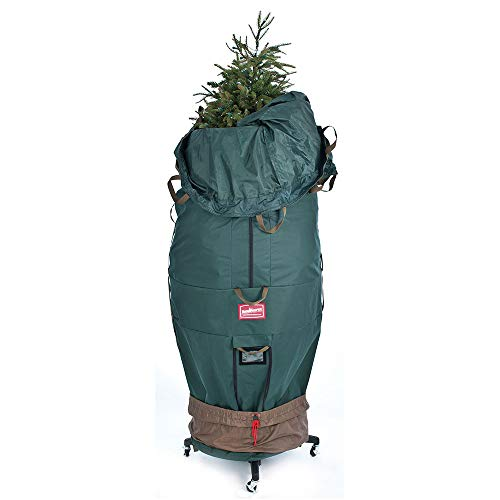 [Upright Tree Storage Bag] - 9 Foot Christmas Tree Storage Bag | Hold Artificial Trees up to 9 Feet Tall - Keep Your Fake Tree Assembled | Includes Rolling Tree Stand (9' - XLarge/with Tree Stand)