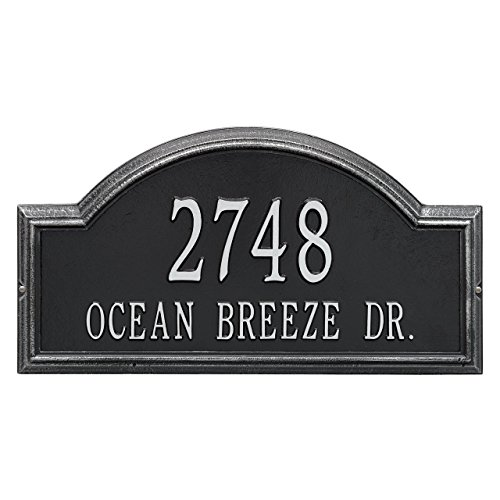 Custom Providence Arch Estate WALL Address Plaque 2 Lines 23