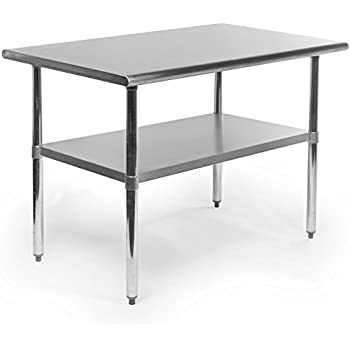 Gridmann NSF Stainless Steel Commercial Kitchen Prep U0026 Work Table   48 In. X  30