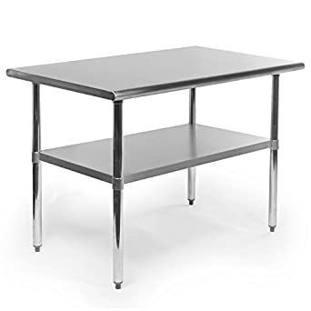Amazon gridmann nsf stainless steel commercial kitchen prep gridmann nsf stainless steel commercial kitchen prep work table 48 in x 30 workwithnaturefo