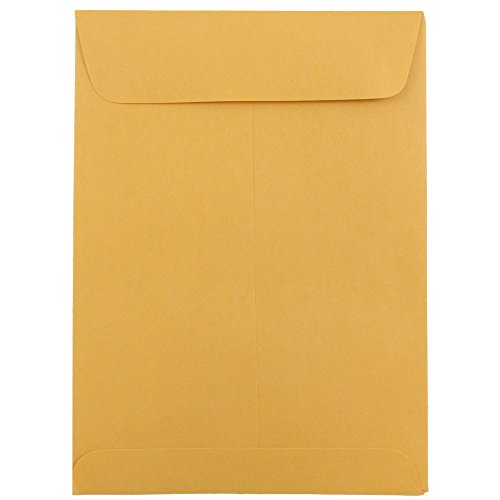 JAM Paper 5 1/2'' x 7 1/2'' Open End Brown Kraft Envelope - 1000/carton by JAM Paper