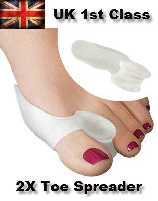 1 par Gel Corrector Separador del dedo del pie de juanetes Toe Protector plancha Toe Spreader