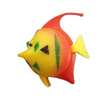 Amazon.com : Gosear 10 Pcs Plastic Artificial Decorative Aquarium Fish Tank Fish Toy Decoration Random Style : Pet Supplies