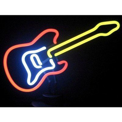Neonetics Electric Guitar Neon Sign Sculpture by Neonetics by Neonetics